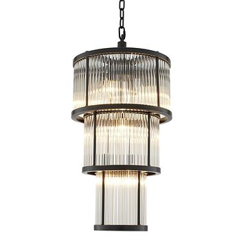 3 TIER GLASS CHANDELIER | EICHHOLTZ AVERY