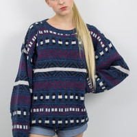 Vintage Dark Tribal Print Sweater