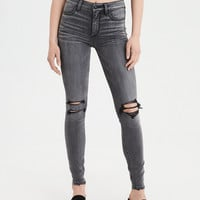 High-Waisted Jegging, Lightning Gray