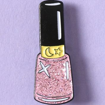 SPARKLE NAIL POLISH ENAMEL PIN