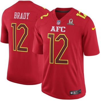 Men's AFC Tom Brady Nike Red 2017 Pro Bowl Game Jersey