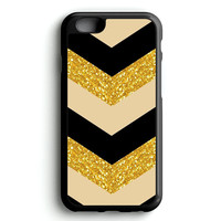 gold glitter black iPhone 4s iphone 5s iphone 5c iphone 6 Plus Case | iPod Touch 4 iPod Touch 5 Case