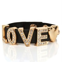 Black//Gold Rubber Love Bracelet
