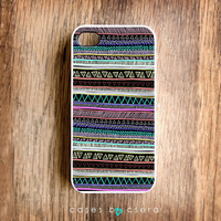 Neon Stripe Unique iPhone Case iPhone 4 Case by casesbycsera