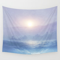 Pastel landscape & sunset Wall Tapestry by vivianagonzlez
