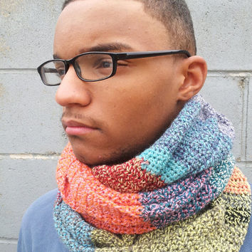 Boyfriend Scarf, Bohemian Men, Mens Scarf, Unisex, Gift for Men, Wool, Tweed