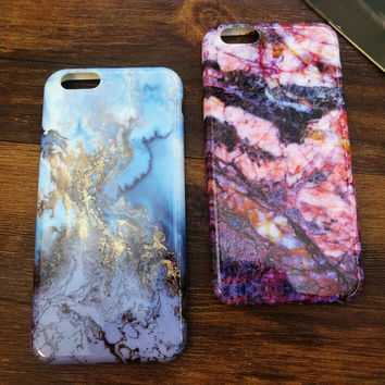 Newest Marble Stone iPhone 7 5se 5s 6 6s Case Top Quality Cover Gift + Gift Box
