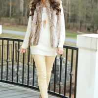 I Can Take It From Here Faux Fur Vest