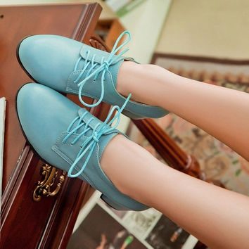 Lace Up Jelly Shoes Women Pumps High Heels Thick Heeled Shoes Woman