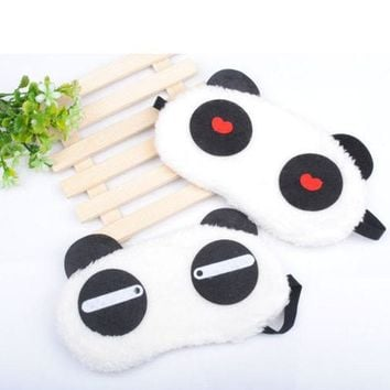 1 PC New Cute  Panda Face Eye Travel Sleeping Cute Blindfold Masks Portable Nap Cover beus