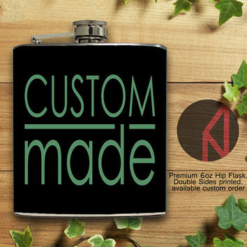 Custom Image Personalized 6oz and 8oz Hip Flask