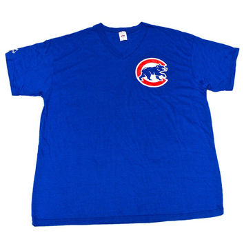 Vintage 90s Majestic Chicago Cubs Shirt Made in USA Mens Size XXL