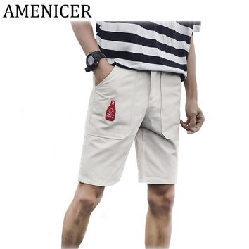 Mens Board Casual Small Bottle Cartoon Printed Summer New Shorts For Boy Man Large Sizes Brand Breeches Pocket Style Shorts