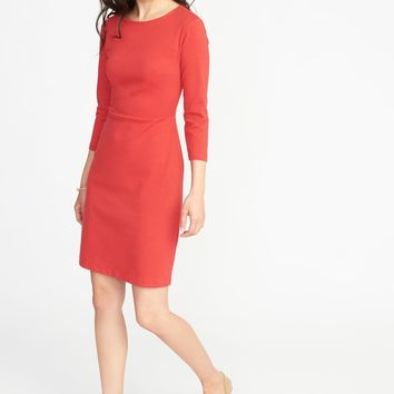 Ponte-Knit Sheath Dress for Women |old-navy