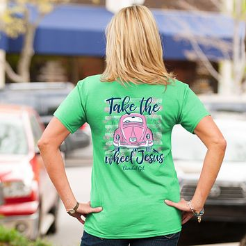 Cherished Girl Take the Wheel Jesus Bug Girlie Christian Bright T Shirt