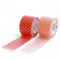 Japanese Washi Tape Set Wide Red Stripes By MT - home office - house & home