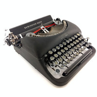 Remington De Luxe Model 5 Portable Typewriter - Reconditioned Typewriter - Good Condition Vintage Typewriter - Black Typewriter