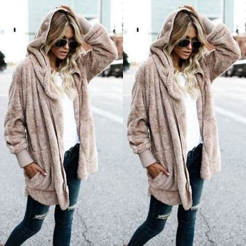 Taupe   Women's Long Oversized Loose Knitted Sweater Cardigan Outwear Coat New