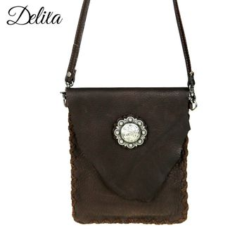 Montana West Delila Leather Crossbody Purse RLC-L077