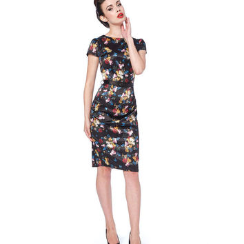 Voodoo Vixen Old Masters Floral Pencil Dress