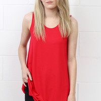 PIKO: Bamboo Basic Swing Tank {Red}