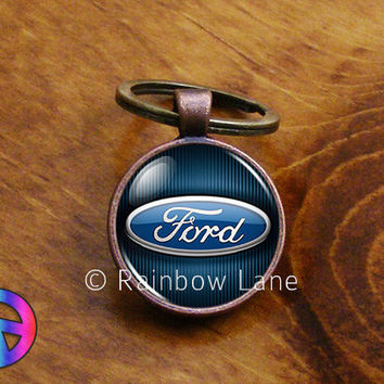 Handmade Ford Car Keychain Key Chain Case Key Ring Accessories Gift