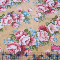 Fabric, Floral Cotton Fabric - quilting, sewing, craft - 1/4, 1/2 or 1 yard cuts