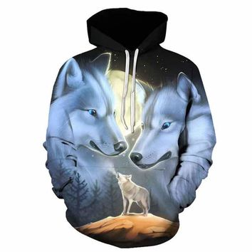 Wolf Hoodies 3D Men Women Sweatshirts Fashion Pullover Autumn Tracksuits Harajuku Outwear Casual Animal Male Jacket
