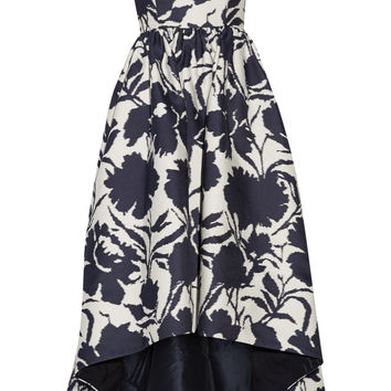 Oscar de la Renta - Off-the-shoulder printed cotton and silk-blend dress