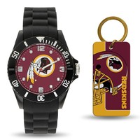 Washington Redskins NFL Watch and Keychain Gift Set