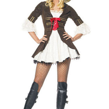 Charming Pirate Costumes lzq yrs, Brown White S M L, very cheap sexy lingerie, cheap sexy costume, cheap halloween costume - Pirate Costumes HotSaleWear.Com
