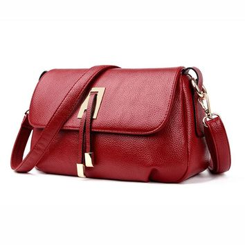 Brand Leather Women Bags Designer Women Handbags Summer Women Messenger Bag Shoulder Bags Soft Leather Bolsas Ladies LRN-3780