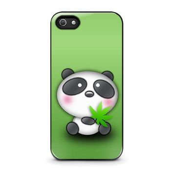 cute panda bear iphone 5 5s se case cover  number 1