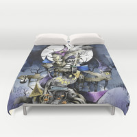 The nightmare before christmas Duvet Cover by Sandra Inchaurraga