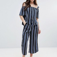 Influence Striped Culottes at asos.com