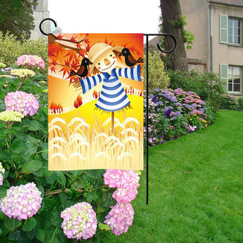 Welcome Home Floral Garden Flag | Welcome Pineapple Garden Flag | Scarecrow Garden Flag