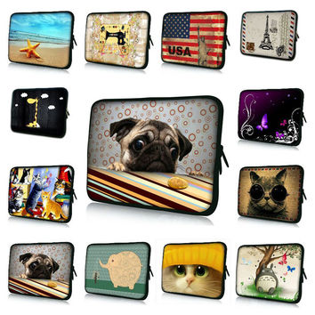 Laptop Waterproof Sleeve Dogs, Cats 20 Styles Notebook Case  For Dell HP ASUS Laptop