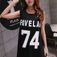 Black Favelas Long Tank
