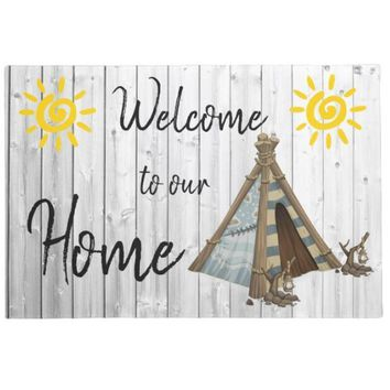 Autumn Fall welcome door mat doormat Cute Rustic Wood Pattern Welcome to Our Home  Entrance Lovely Camper Indoor Living Room Floor Mats Rubber Rug Home Decor AT_76_7