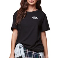 Vans Skateboard Boyfriend T-Shirt - Womens Tee - Black