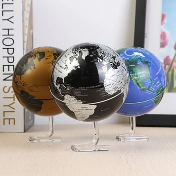 Automatic Rotating World Globe Desktop Globes Earth Ocean Globe World Geography Table Decor