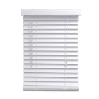 Homepointe 3464FWW  White Fauxwood Mini Blind, 2-Inch by 34-Inch by 64-Inch