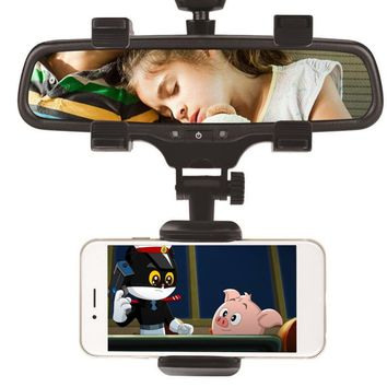 Car Rearview Mirror Mount Mobile Phone Holders & Stands Universal Navigation Support Automobile Data Recorder Holdfast for HTC