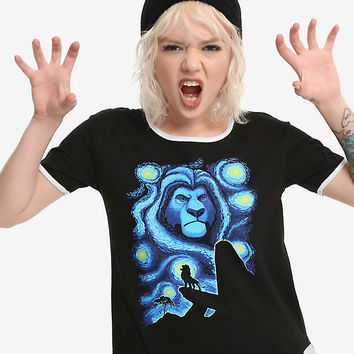 Disney The Lion King Starry Night Girls Ringer T-Shirt