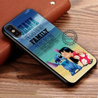 Ohana Lilo and Stitch Quote iPhone X 8 7 Plus 6s Cases Samsung Galaxy S8 Plus S7 edge NOTE 8 Covers #iphoneX #SamsungS8