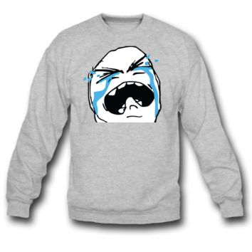 Crying rage face sweatshirt