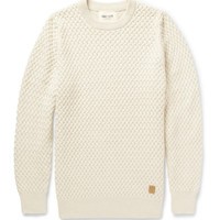 PRODUCT - NN.07 - Milton Waffle Knit Cotton Sweater - 393682 | MR PORTER