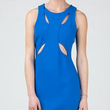 ANGL | Over & Under Cutout Fitted Dress