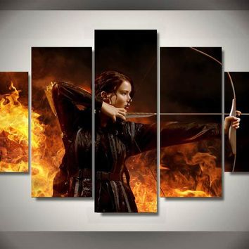 Printed hunger games Movie Group Painting children's room decor print poster picture canvas Painting For Living Room Decor
