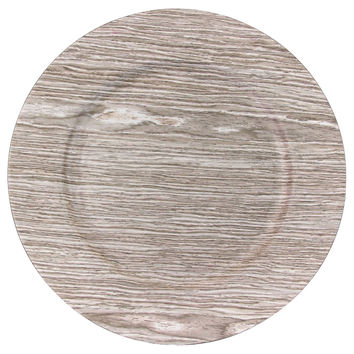 Birch Faux Wood Charger Plates, Set of 24, Acrylic / Lucite, Chargers